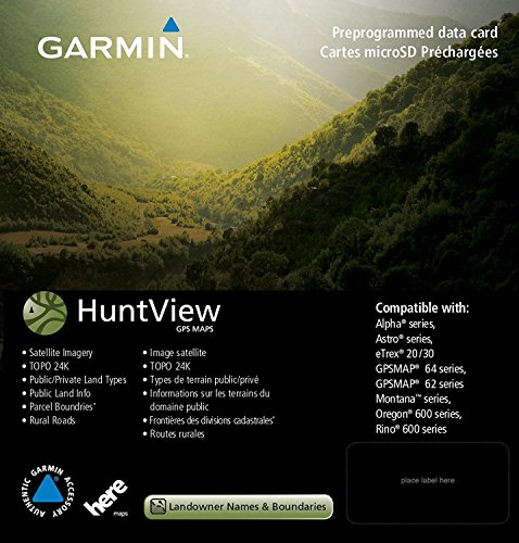 Garmin Huntview Map Card (Vermont & New Hampshire)