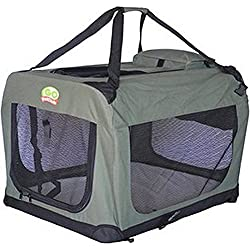 Go Pet Club AD20 Dog Pet Soft Crate- 20-Inch- Sage NEW