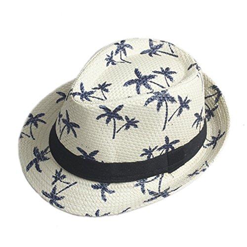 ylovego Men Women Summer Sun Hat Beach Fashion Cap Fedora Cap Beach Sun Straw Panama Hat Sunhat in Stock!!! Cream - Straw Ml Hat