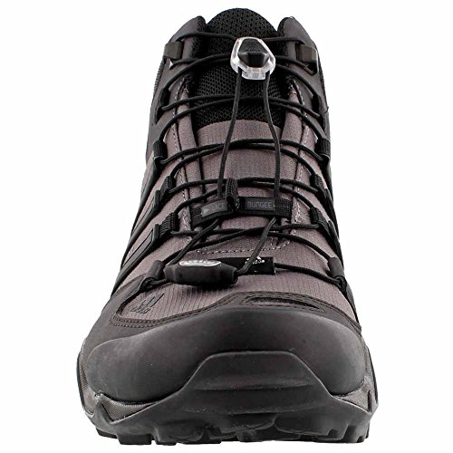 adidas Terrex Swift R Mid GTX - Botas de senderismo para hombre Granite/Black/Shadow Black