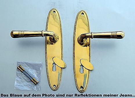 Luxusgriffe Antik Art Deco Tür Griffe Türgriffe Langschild BB Jugendstil S102-1A
