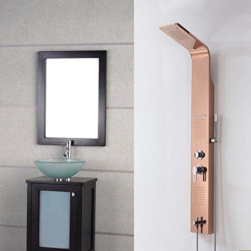HUAM@Rose oro pared montaje lluvia cascada ducha baño ducha Panel ...