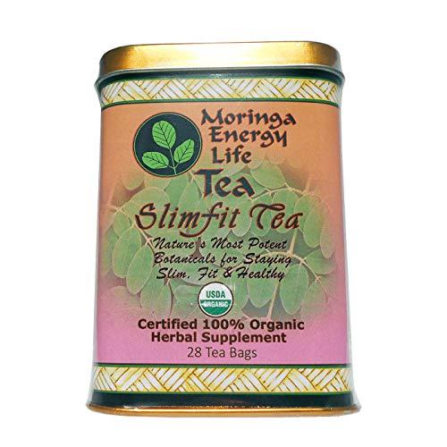MORINGA SLIMFIT (Weight loss) TEA - USDA Organic - Nature´s 9 Most Potent Botanical's for Staying Slim, Fit & Healthy! with this Moringa Tea