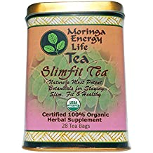MORINGA SLIMFIT (Weight loss) TEA - USDA Organic - Nature´s 9 Most Potent Botanical's for Staying Slim, Fit & Healthy! with this Moringa Tea