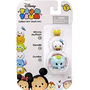 Disney Tsum Tsum Winnie, Donald & Dumbo 1 146, 114 & 124 Minifigure 3-Pack