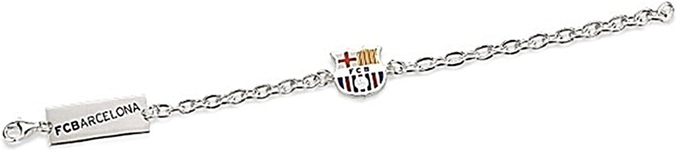 Pulsera escudo F.C. Barcelona Plata de ley chapa [6920] - Modelo: 10-062: Amazon.es: Joyería