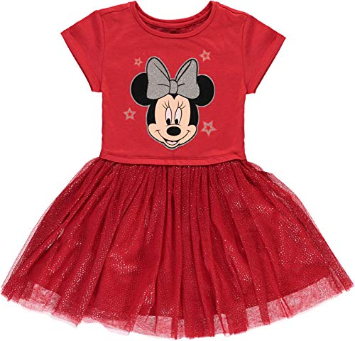 Disney Girls' Minnie Mouse Tutu Dress with Tulle Skirt (XS-4/5)