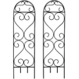 "Hosley's Set of 2 Scroll Planter Trellis, 27"" High. Ideal Gift for Wedding or Party and Use next to Structures (home or office) or in Planters for Growing Floral, Plants, Vines and Vegetables O3"