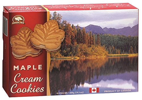 Canada True Premium Maple Cream Cookie with 100% Pure Maple Syrup - Product of - Sandwich Cookie Maple
