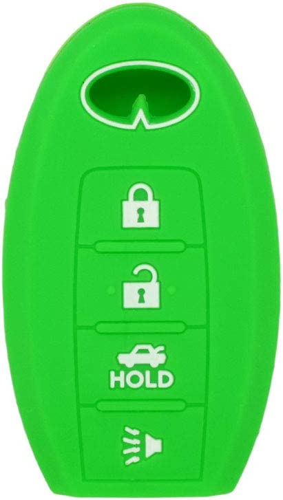 SEGADEN Silicone Cover Protector Case Skin Jacket fit for INFINITI 4 Button Smart Remote Key Fob CV4508 Red