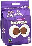 Cadbury Dairy Milk Chocolate Giant Buttons 119 Grams (Pack of 5)