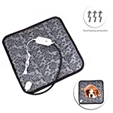 Pet Heating Pad,Cat Heating Pad Waterproof Adjustable Temperature Electrical Heating Pads For Dog/Cat With Chew Resistant Cord(17.7x17.7 Inch)