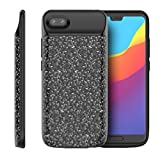 Scheam Huawei Honor 10 Battery Case, Huawei Honor 10 Portable ChargerGrip Charging Case [ Black ] Extended Battery Power Cases