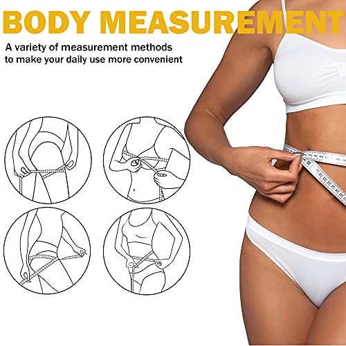 TACVEL 6 Pack Soft Tape Measure, Measuring Tape for Body Measurements, Double Scales Rulers (60in/150cm) for Sewing, Body, Tailor