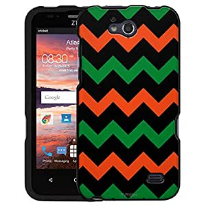ZTE Maven Case, Snap On Cover by Trek Chevron Blue Orange Black Case