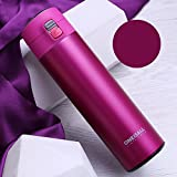 Rosy Flask Insulated 16Oz Travel Mug Stainless Steel Tea Coffee Cup