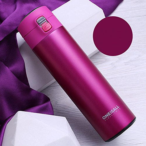 Rosy Flask Insulated 16Oz Travel Mug Stainless Steel Tea Coffee Cup by Travel Mugs