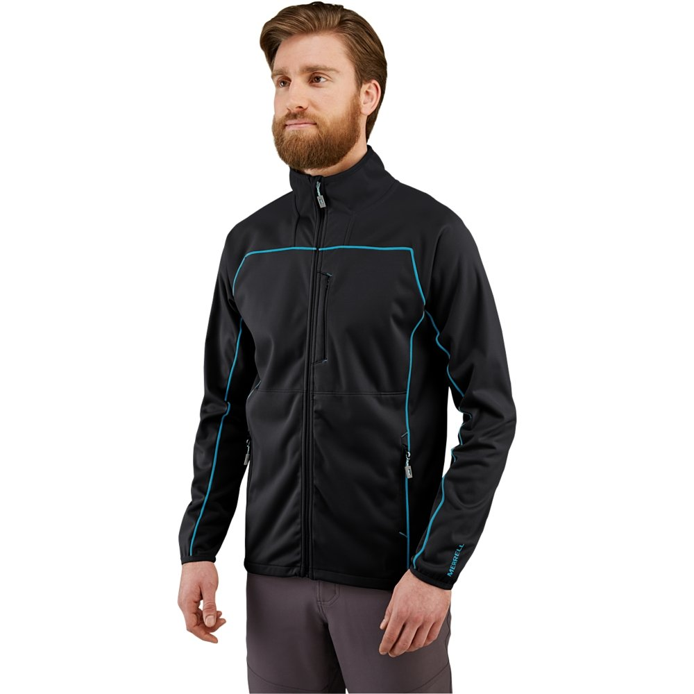 Merrell Men's Conservation Softshell Jacket, Black, Large