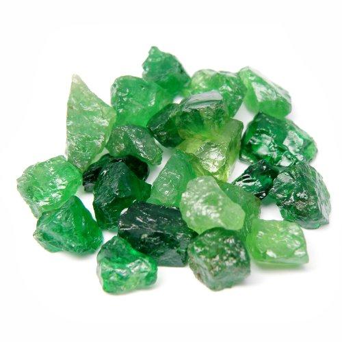thaigeneration 37.19 Ct. / 23 Pcs. Rare! Unheated Natural Rough Green Tsavorite Garnet