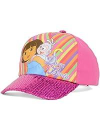 Dora & Boots Sequin Pink Adjustable Toddler Girls Baseball Hat Cap