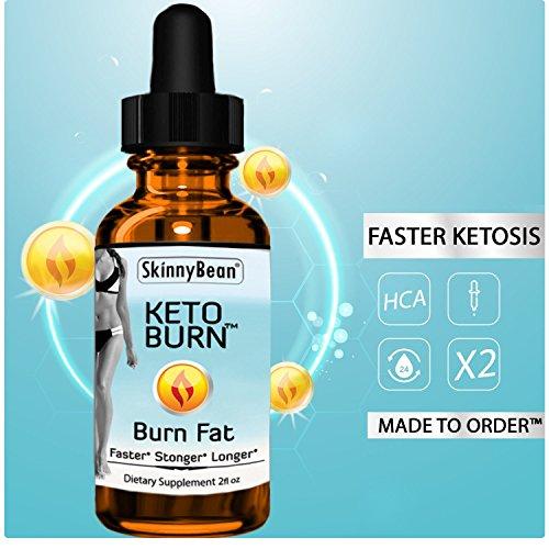 Keto BurnTM Fat Burner Diet Drops by SkinnyBean® Accelerated Formula