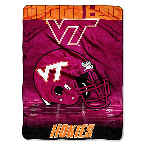 Officially Licensed NCAA Virginia Tech Hokies Overtime Micro Raschel Throw Blanket, 60