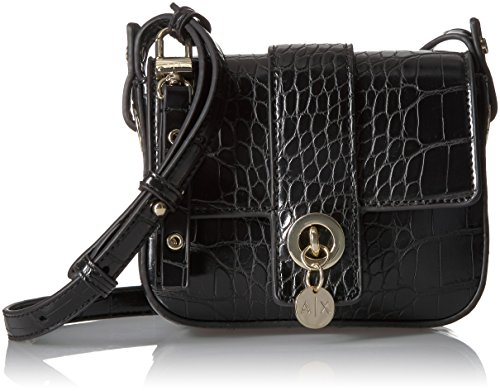 A|X Armani Exchange Croc Crossbody, black, One - Woman Armani