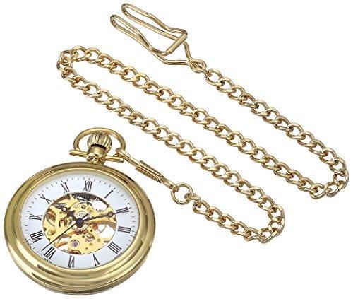 5efa0e091 Stuhrling Original Men's 6053.33333 Vintage Mechanical Skeleton 23K Gold  Plated Pocket Watch by Stuhrling Original: Amazon.ca: Watches