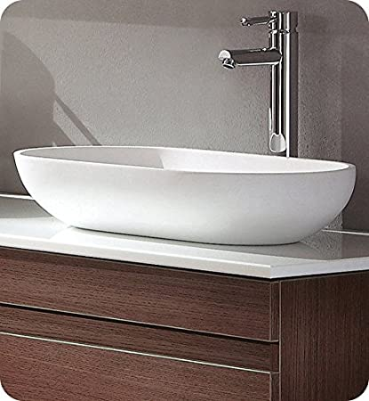 modern bathroom sinks. Fresca FVS8054WH Oval Acrylic Modern Bathroom Vessel Sink  White