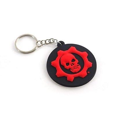 Gears of War - Logo - Oficial Llavero de goma - Negro, OS ...