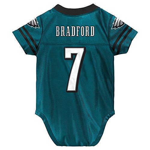 OuterStuff Sam Bradford NFL Philadelphia Eagles Teal Green Home Infant Newborn Jersey