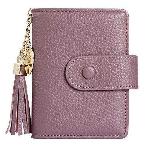 Women's Mini Credit Card Case Wallet with ID Window and Card Holder purse 9 Colors(Lavender)