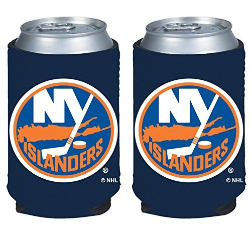 fan products of NHL Hockey 2014 Team Color Logo Can Kaddy Holder Cooler 2-Pack (New York Islanders)