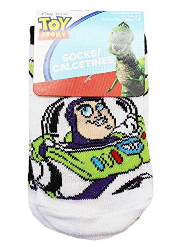 Disney Pixar's Toy Story Buzz Lightyear Kids White Socks (1 Pair, Size 4-6)