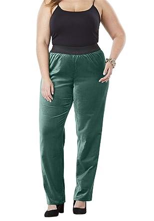 a2129573342 Jessica London Women s Plus Size Velvet Straight Leg Pant at Amazon Women s  Clothing store