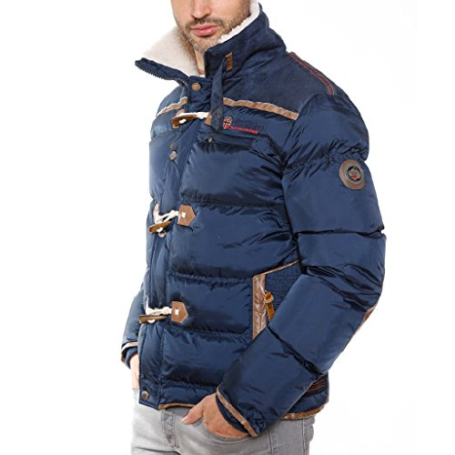 Answer Men 001 Winterjacke von Geograpical Norway (XL, NAVY)