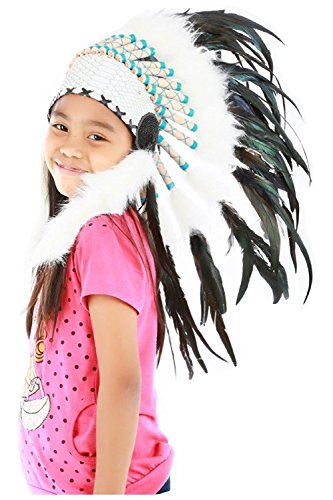 N31- Indian headdress for 5 to 8 year kid / children, Feather headdress (Feathered Headdress)