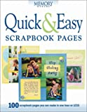 Quick and Easy Scrapbook Pages, Memory Makers Magazine Editors, 1892127202