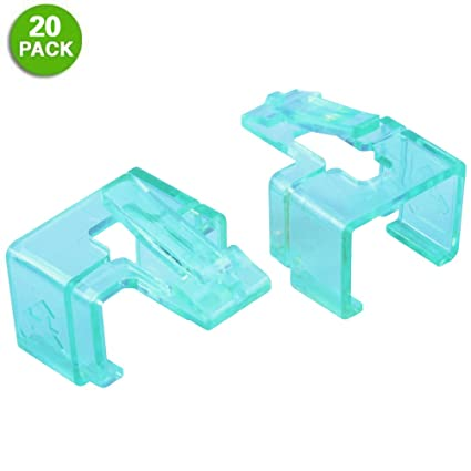 Amazon.com: 20 Pack Plug SOS Clips in Green, for RJ45 Connector Fix ...