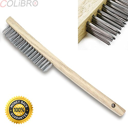 COLIBROX--Welding Wire Brush Weld Stainless Steel Brushes w/ Scraper Removal Tool TIG MIG. Wire brush is ideal for cleaning, deburring and surface-finishing.