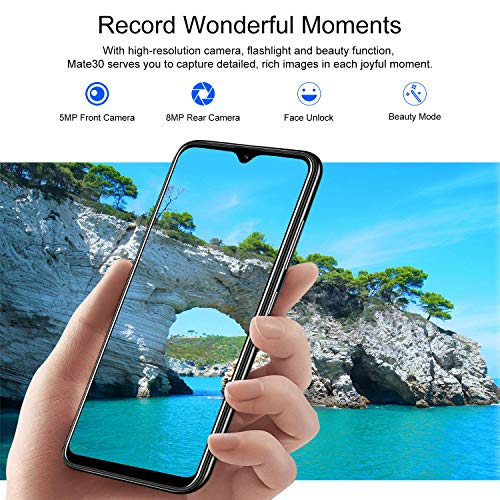 4G Mobile Phone,Xgody M30s Smartphone Unlocked,6.26 inch qHD+(19:9) Waterdrop Screen Cell Phone,3GB RAM + 32GB ROM,Dual Sim Free Android 9.0 Phones,Face Recognition-Black