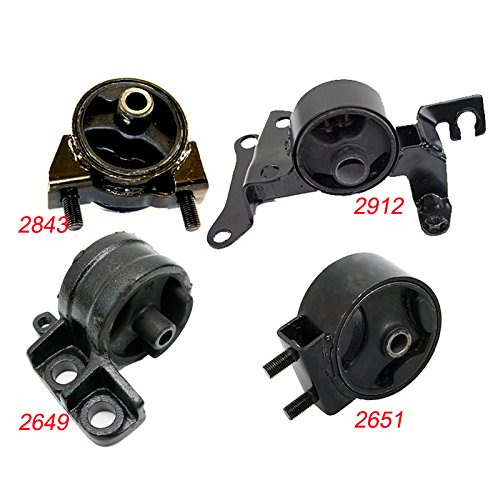 K2100-04 Fits 1997-2003 Ford Escort 2.0L MANUAL Engine Motor & Trans Mount Set 4pcs 1997 1998 1999 2000 2001 2002 2003 A2651 A2649 A2912 A2843