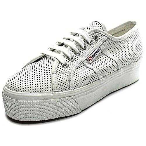Superga Women's 2790 Perfleaw Fashion Sneaker, White, 41 EU/9.5 M US