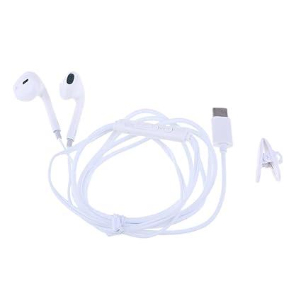 MagiDeal Tipo C Auricular con Remoto y Micrófono Concordante para Google Chromebook, Huawei Mate 10