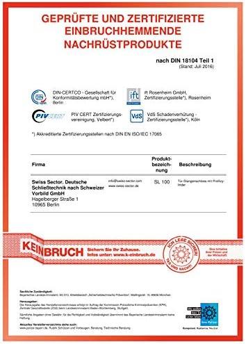 Swiss Sector 10011164 SL100 VdS Stangenverriegelung Braun