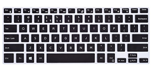Keyboard Cover for 2018 Dell Inspiron 13 5000 i5368 i5378 i5379, Dell Inspiron 7373 7375 7368 i7368 7378 i7378, 15.6 Dell Inspiron 15 i5568 i5578 5579 7570 7573 7569 7579, Black