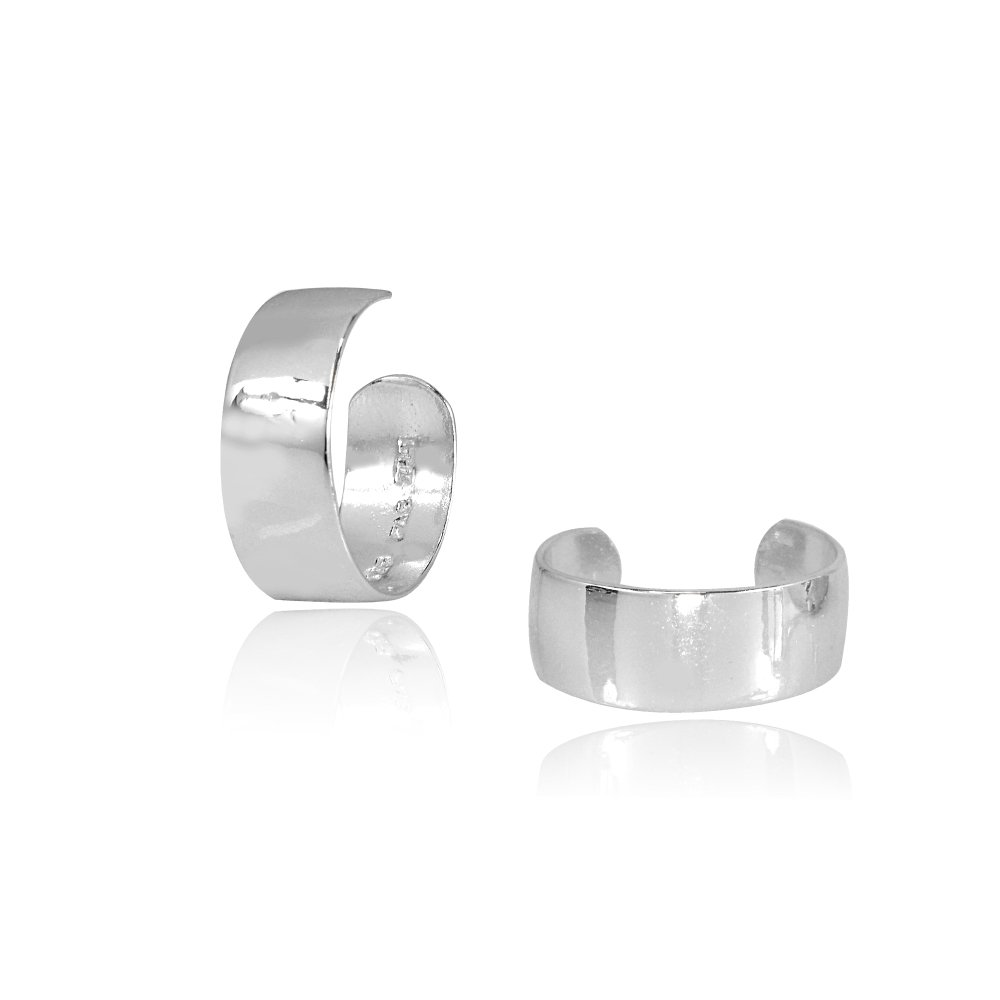 Sterling Silver High Polished Clip On Ear Cuff