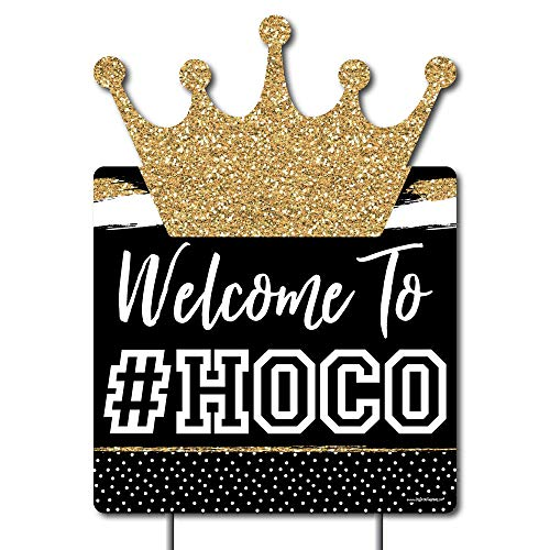 Big Dot of Happiness HOCO Dance - Party Decorations - Homecoming Welcome Yard Sign