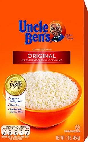 UNCLE BEN'S Original Long Grain White Rice 1lb, - Uncle Grain Whole Bens