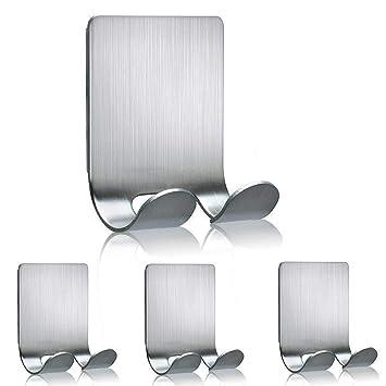Sostenedor de la navaja, ganchos adhesivos adhesivo colgador de pared de acero inoxidable ganchos de